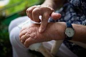 Seniors using CBD Cream for pain relief